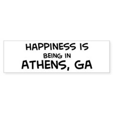 Happiness is Athens Bumper Bumper Sticker