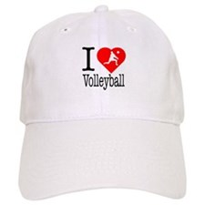 I Love Volleyball Baseball Cap