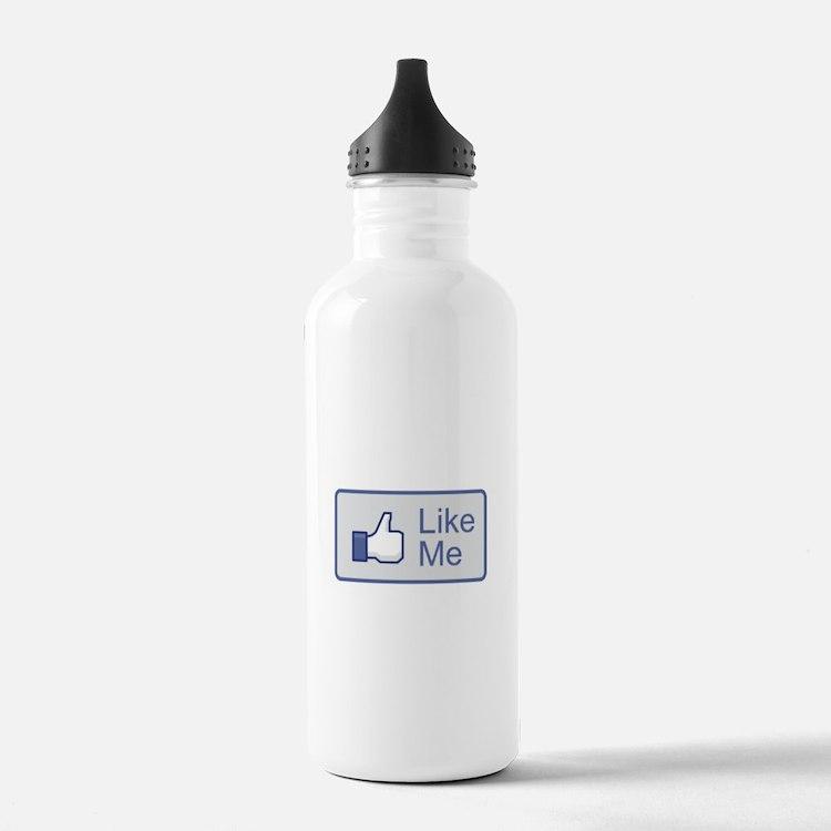 Like Me Facebook Icon Water Bottle
