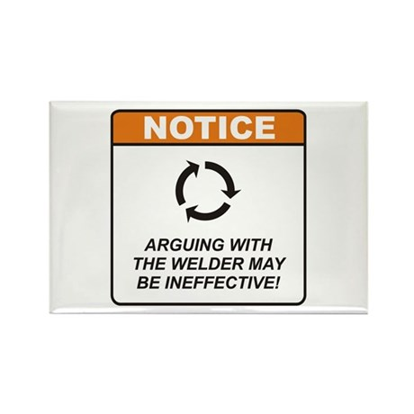 Welder / Argue Rectangle Magnet (10 pack)