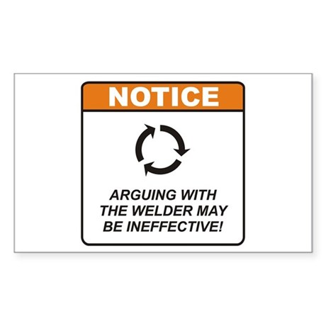 Welder / Argue Sticker (Rectangle)