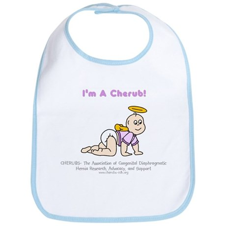 """Violet"" Logo IAC Baby Bib"