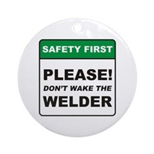 Welder / Wake Ornament (Round)