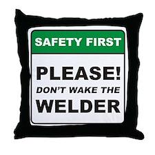 Welder / Wake Throw Pillow