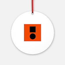 Universal Distress Flag Ornament (Round)
