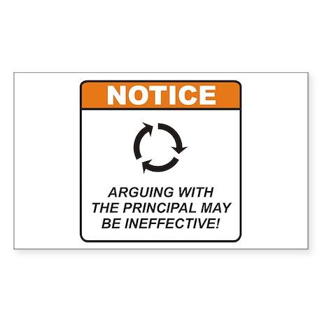 Principal / Argue Sticker (Rectangle 10 pk)
