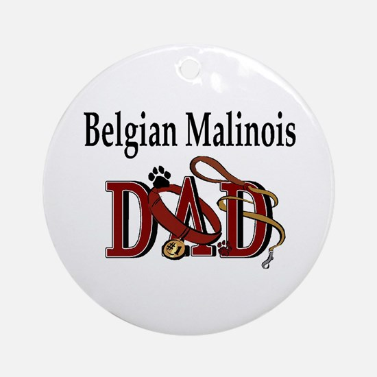 Belgian Malinois Dad Ornament (Round)