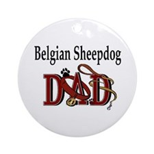 Belgian Sheepdog Dad Ornament (Round)