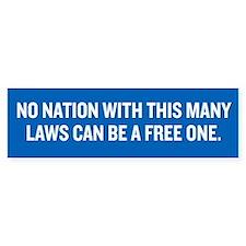 Nation of Freedom Bumper Bumper Sticker