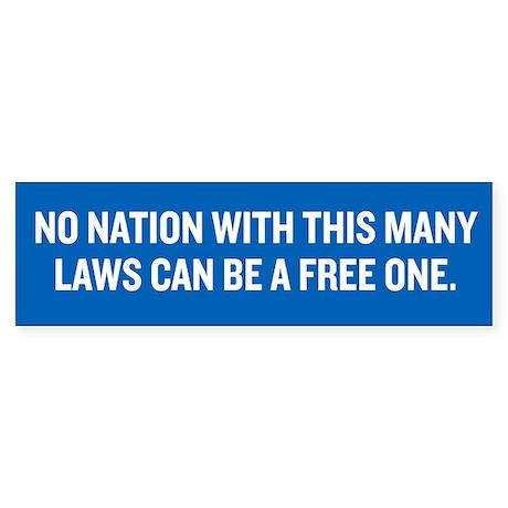 Nation of Freedom Sticker (Bumper)