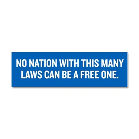 Nation of Freedom Car Magnet 10 x 3