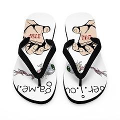 OYOOS Fun Gamer design Flip Flops