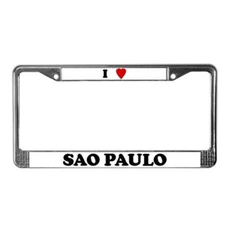 I Love Sao Paulo License Plate Frame