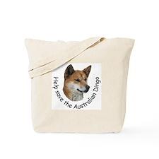Tote Bag with Save the Dingo logo