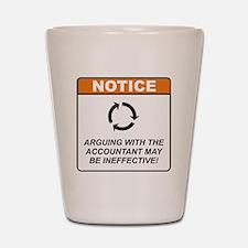 Accountant / Argue Shot Glass