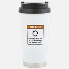 Accountant / Argue Stainless Steel Travel Mug