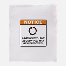 Accountant / Argue Throw Blanket