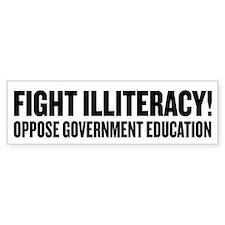 Fight Illiteracy Car Sticker