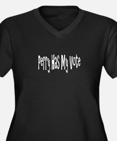 Funny Rick perry president Women's Plus Size V-Neck Dark T-Shirt