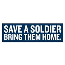 Save a Soldier Bumper Sticker