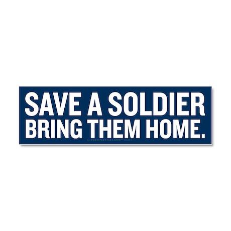 Save a Soldier Car Magnet 10 x 3