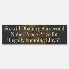 Obama and Libya Bumper Bumper Sticker