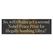 Obama and Libya Bumper Sticker