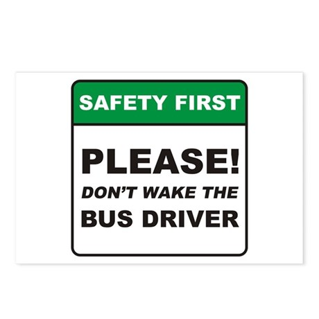 Bus Driver / Wake Postcards (Package of 8)