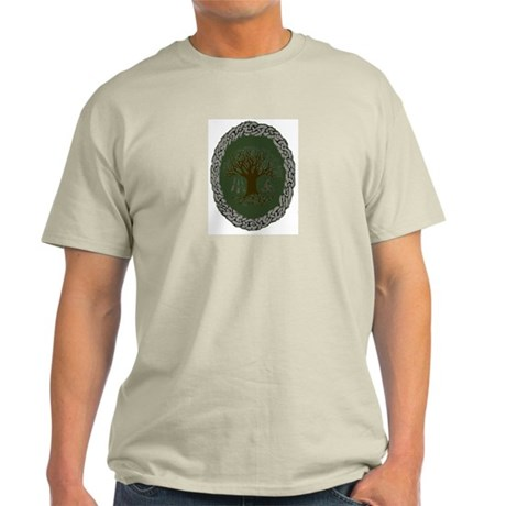 Ash Grey T-Shirt - Druid Tree of Life
