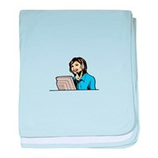 Cute Telemarketer baby blanket