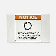 Social Worker / Argue Rectangle Magnet