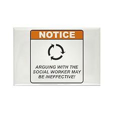 Social Worker / Argue Rectangle Magnet (10 pack)