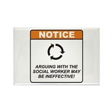 Social Worker / Argue Rectangle Magnet (100 pack)