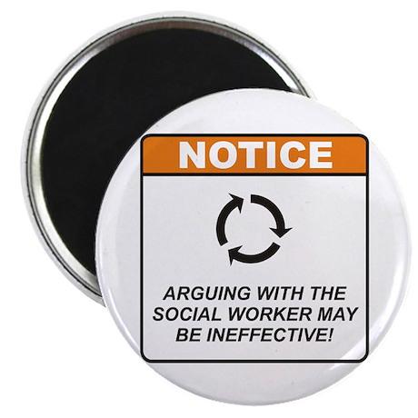 """Social Worker / Argue 2.25"""" Magnet (10 pack)"""