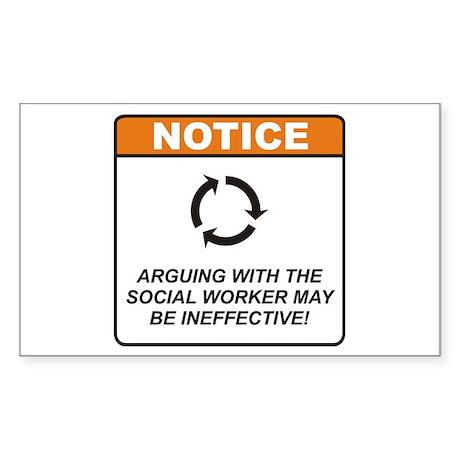 Social Worker / Argue Sticker (Rectangle)