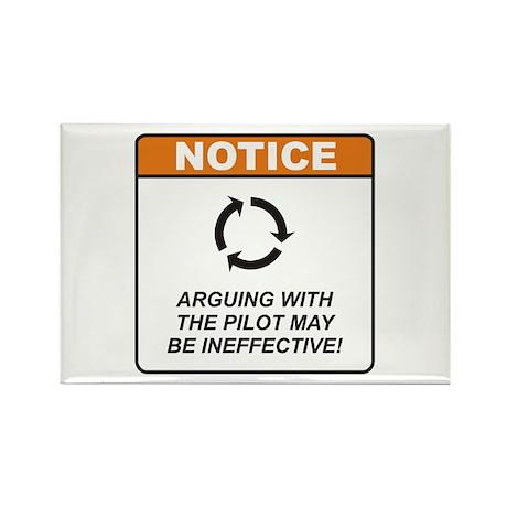 Pilot / Argue Rectangle Magnet (10 pack)