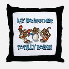 My Big brother totally rocks Throw Pillow
