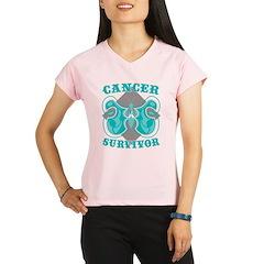 Cervical Cancer Survivor Performance Dry T-Shirt