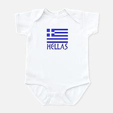 Greek Flag & Hellas Infant Bodysuit