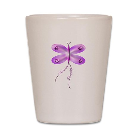butterfly trails 1 Shot Glass