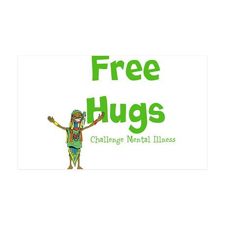 Free Hugs 38.5 x 24.5 Wall Peel