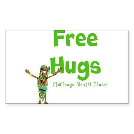 Free Hugs Sticker (Rectangle 10 pk)