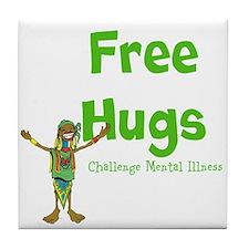 Free Hugs Tile Coaster