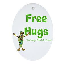 Free Hugs Ornament (Oval)