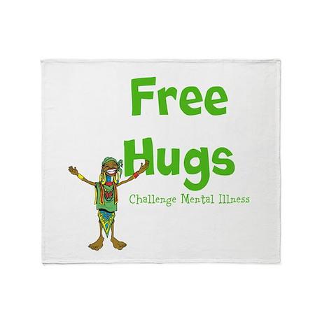 Free Hugs Throw Blanket