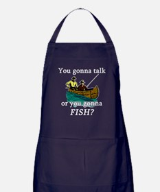 Talk or Fish Apron (dark)