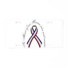 Cute Patriotic for women Aluminum License Plate