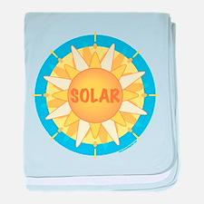 Solar Sun baby blanket