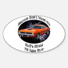 Plymouth Barracuda Sticker (Oval 10 pk)