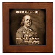Ben on Beer Framed Tile